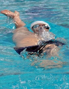 Garrett McCaffrey swimming at the 2011 USMS Championships