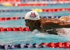 Giles Smith of Arizona swims 400 Medley Relay Prelims