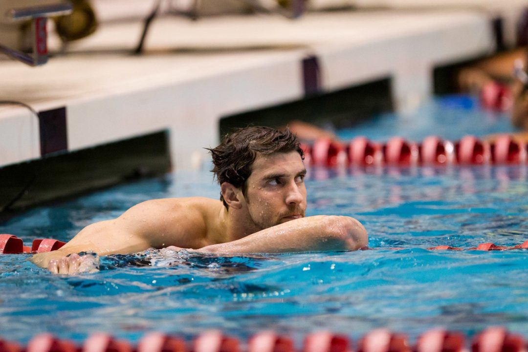 Phelps Returns to Old Form in 400 IM in Indy