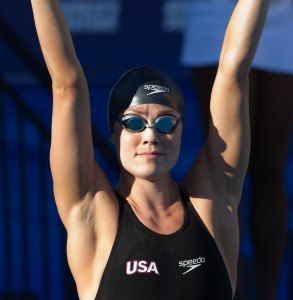 Natalie Coughlin, 2012 Pan Pacific Championships, 100 butterfly final (Photo Credit: Tim Binning, theswimpictures)