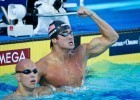 Nathan Adrian jammed his finger in warmdown Thursday morning and had to scratch 50 free finals(Photo Credit: Tim Binning, theswimpictures)