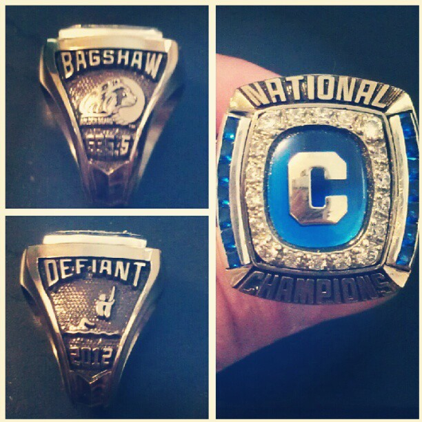 Jeremy Bagshaw 2012 Cal Golden Bears NCAA Championship Ring