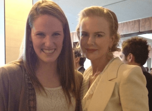 Missy Franklin and Nicole Kidman