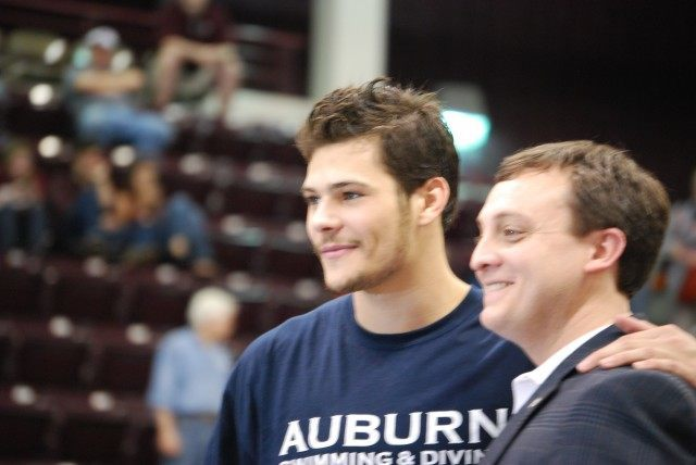 Auburn's Marcelo Chierighini walked away with 6 event victories and a Swimmer of the Year award. Credit: Janna Schulze
