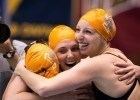 The Tennessee Volunteers win the 4x100 Medley Relay at the 2013 Women's NCAA Swimming and Diving Championships (Photo Credit: Tim Binning, the swim pictures)