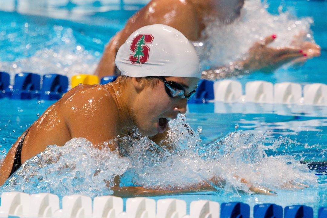 Stanford Holds 8-Point Lead Over USC With One Day to Go at 2013 Women's Pac 12 Championship