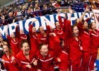 UGA, winners of the 2013 Women's NCAA Swimming and Diving Championships (Photo Credit: Tim Binning, the swim pictures)