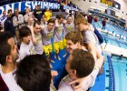 Michigan Celebration, 2013 Men's NCAA Swimming and Diving Championships (photo Credit: Tim Binning, the swim pictures)
