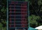 The scoreboard at the finish of the 2013 North Coast Section Championship meet, where three swimmers went under the National High School Record. Photo Courtesy: Robert Ashby