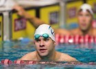 David Plummer wins the 50 backstroke, breaking the US Open record in 24.52 at the 2013 World Championship Trials.