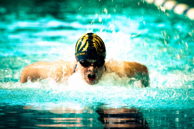 Becca Mann may be the most diverse swimmer in the country - Already on the the team for open water she's got a broad program of events including the 200 fly where she was 4th.  (photo: Mike Lewis, Ola Vista Photography)