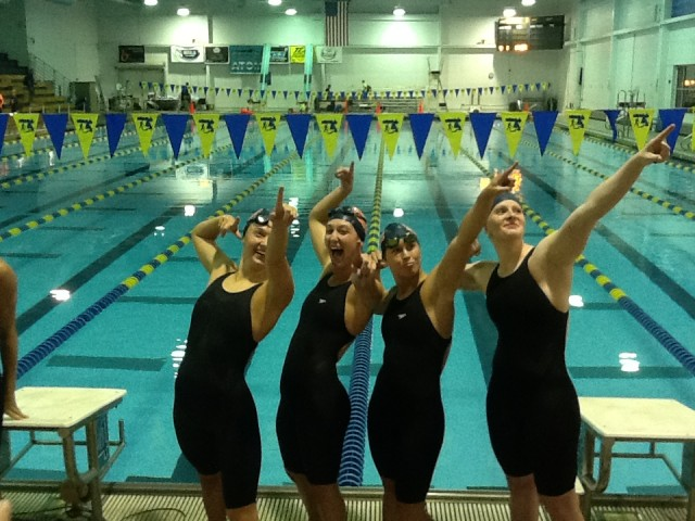 Another shot of the National Age Group Record breakers from SwimMAC Carolina. (Photo Courtesy: John Fedena)
