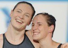Cate & Bronte Campbell, 50 freestyle World Record, semi final, 2013 FINA World Championships (Photo Credit: Victor Puig)