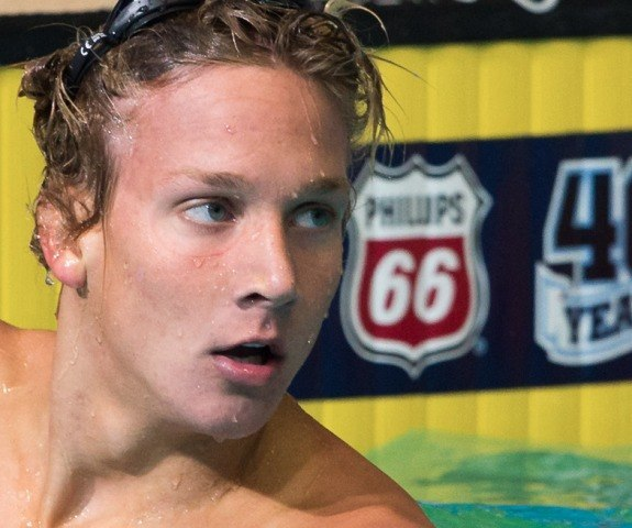 Caeleb Dressel, Bolles School, a rising swim star at the 2013 US World Championship Trials (Photo Credit: Tim Binning, the swim pictures)
