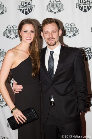 Alex Meyer attends Golden Goggles, USA Swimming annual awards show (courtesy of Melissa Lundie, melissalundie.com)