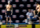 Anthony Ervin and Ricky Berens ready for the 100 free finals in Indy  (photo: Mike Lewis, Ola Vista Photography)