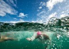 At the start of the Waikiki Roughwater Swim  (photo: Mike Lewis, Ola Vista Photography)