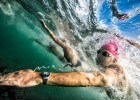 Open water swim.Mike Lewis