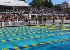The sell-out crowd at the Cal-Arizona meet in Berkeley. Courtesy: Skip Stubbs