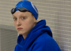 Katie Ledecky, before the 400m Free, 2014 Austin Grand Prix (courtesy of Rafael  Domeyko, rafaeldomeyko.com)