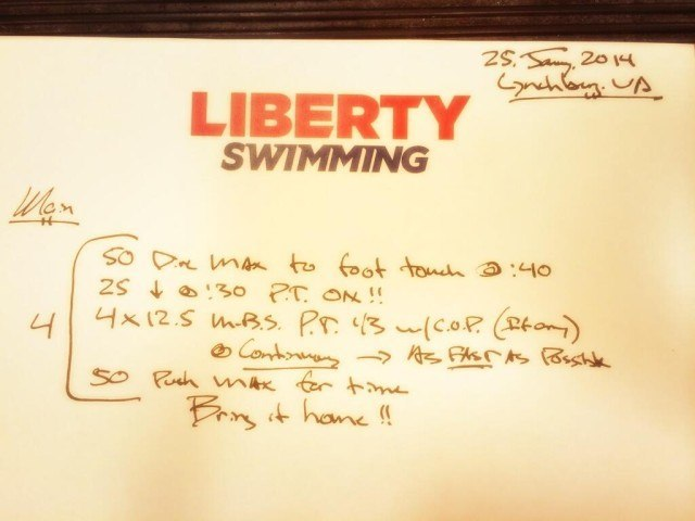 liberty swimming workout