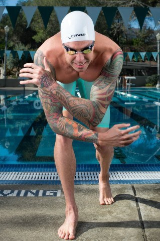 Olympic Champion Anthony Ervin sporting the FINIS Vapor in one of their new colors