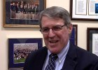 Notre Dame coach tim Welsh, courtesy Notre Dame Athletics/YouTube