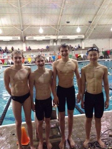 Tualatin Hills Swim Club record breaking relay
