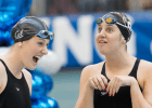 Missy Franklin & McDermott, 2014 Women's NCAA D1 Swimming and Diving Champsionships (Tim Binning, theswimpictures)