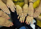 The Cal Golden Bears dazzled with glittery golden polish. (Courtesy: Janna Schulze)