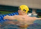 Jaeger smashes pool record as Michigan men, Texas women top Quad meet