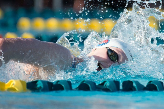 Katie Ledecky - 2014 Arena Grand Prix at Mesa  (courtesy of Mike Lewis, olavistaphotography.com)