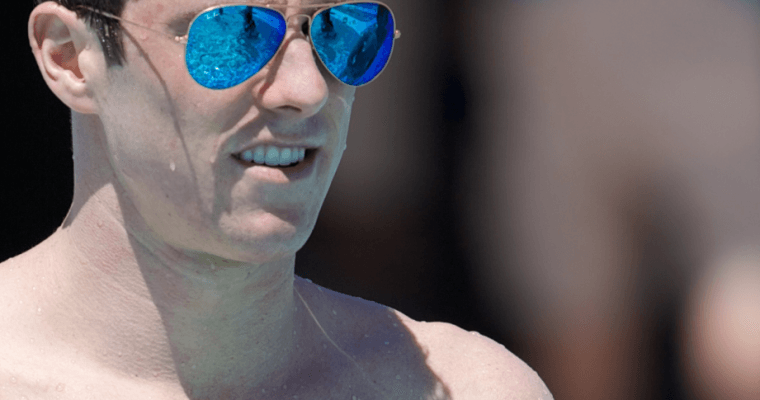 Conor Dwyer at the 2014 Arena Grand Prix in Mesa (courtesy of Rafael Domeyko)
