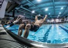 Off to a strong start. David Plummer in the 50 backstroke (photo: Mike Lewis, Ola Vista Photography)