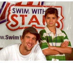 Michael Andrew met Michael Phelps many years before the Mesa Grand Prix.