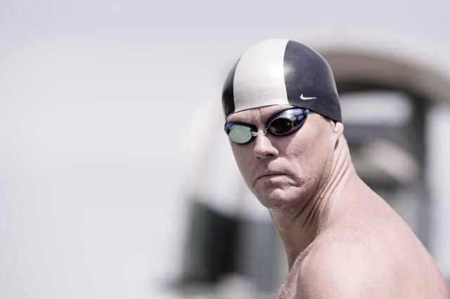 One of many bears in the water - Wind-n-Sea Masters Paton McClung (Photo: Mike Lewis - Courtesy of U.S. Masters Swimming)