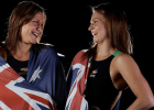 Britishs wimmer turned Aussie Ellan Gandy and Lorna Tonks