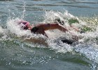 Jordan Wilimovsky battling Alex Meyer in the 5K at Open Water Nationals. Photo: Anne Lepesant
