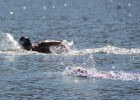 Eva Fabian leading the 5K at Open Water Nationals. Photo: Anne Lepesant