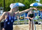 Hilliard, OH Fitter and Faster Swim Tour presented by SwimOutlet.com: Alyssa Anderson  demonstrates drills for freestyle catch.
