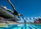 Go! Michael Phelps off the blocks (photo: Mike Lewis, Ola Vista Photography)