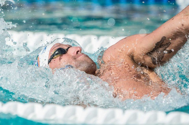 Sebastien Rousseau in the 400 IM (photo: Mike Lewis, Ola Vista Photography)