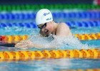 GLASGOW, SCOTLAND - JULY 24:  Hannah Miley on her way to a new games record in the Women's 400m IM heats at Tollcross International Swimming Centre on July 24, 2014 in Glasgow, Scotland.(Photo by Ian MacNicol)