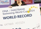 Hosszu rewarded for new World Record - SWC Doha 201