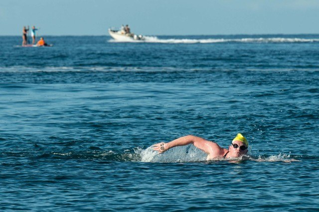 Australia's Jarrod Poort took and early lead (photo: Mike Lewis, Ola Vista Photography)