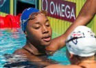 Simone Manuel, so young, so fast, the future of Team USA's sprint crew. (courtesy of Tim Binning)