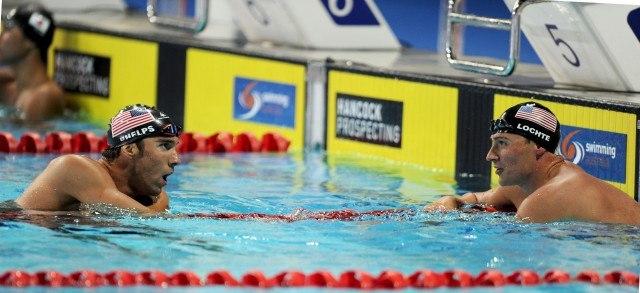 Michael Phelps & Ryan Lochte, 100 fly, 2014 Pan Pacific Championships (courtesy of Scott Davis)
