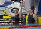 100 Free Race Video, Interview: Campbell Sisters dominate