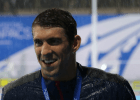 Michael Phelps seems to be ok with the rain on the Gold Coast - 2014 Pan Pacs (courtesy of Paul Younan)