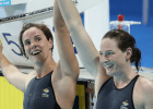 Cate Campbell, Bronte Campbell, ,2014 Pan Pacific Championships (courtesy of Paul Younan)